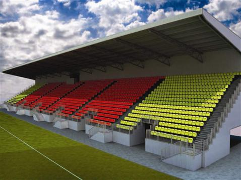 Flood Precast Stairs at Watford Football Club's New East Stand