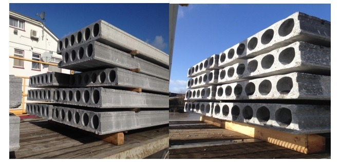 Hollowcore precast flooring