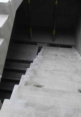 exo building - precast stairs